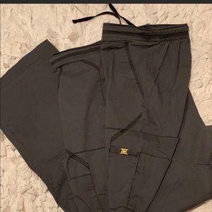WonderWink scrub pants  2X  Pewter XXL